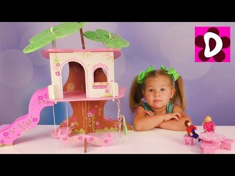 ДOМИК НА ДЕРЕВЕ Подарок от Подписчика для Дианы Видео для Детей и Малышей Игрушки и Игры для Девочек