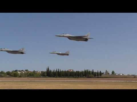 Athens Flying Week 2017 Polish Air Force MIG-29 departure and low pass