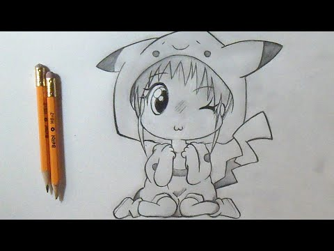 Como Desenhar Menina Chibi Anime Pikachu Youtube