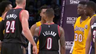 Video Damian Lillard gets into D'Angelo's Face | Lakers vs Trailblazers (01/10/2017) download MP3, 3GP, MP4, WEBM, AVI, FLV September 2018