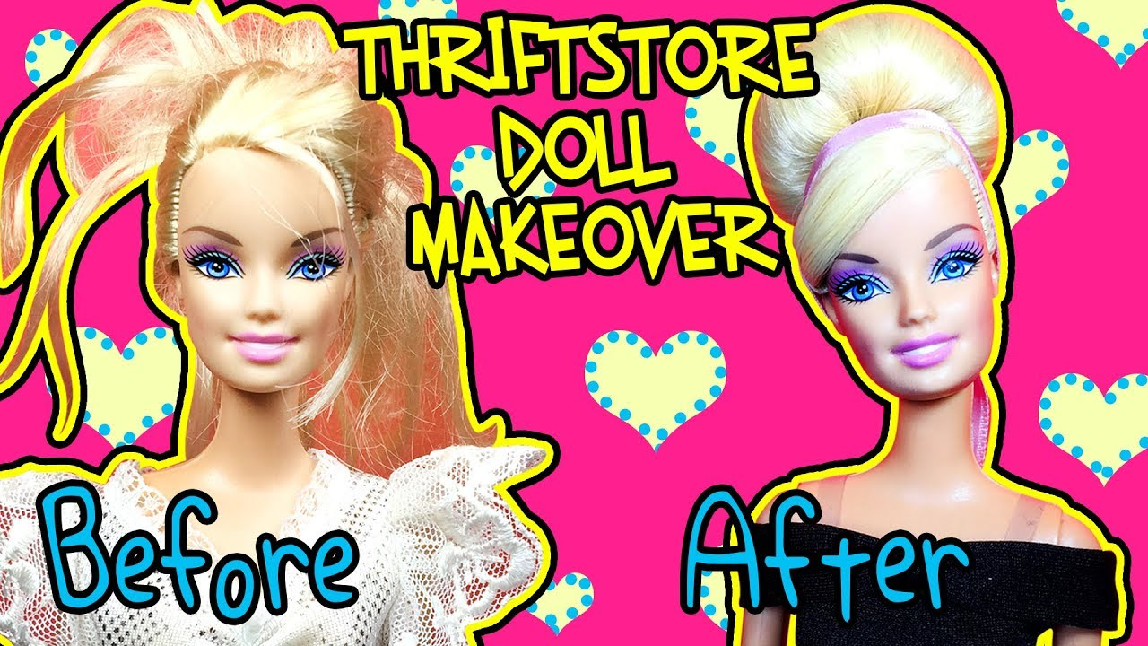 Thriftstore Barbie Makeover - How to Fix Sticky Doll Hair ...