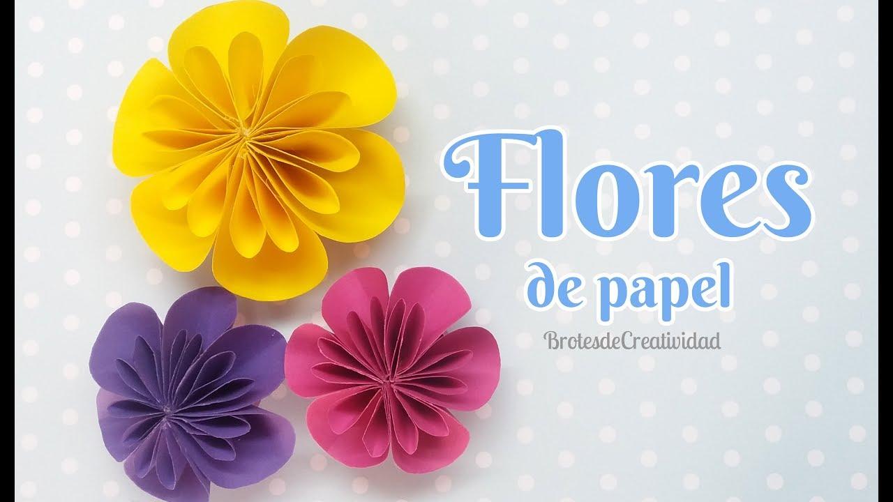 Preciosas Flores De Papel Super Facil De Hacer Diy Brotes De