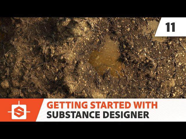 02-08 Using the Shape Splatter node to create small dirt mounds