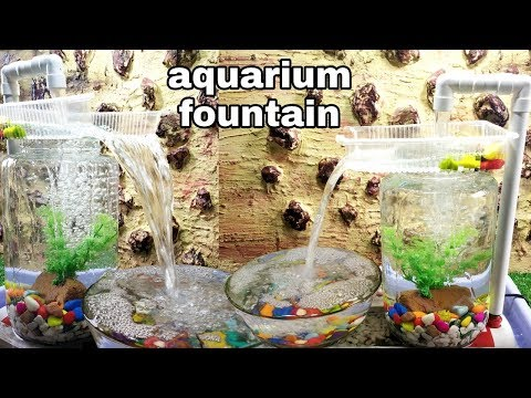 How to make aquarium style waterfall fountain very easy