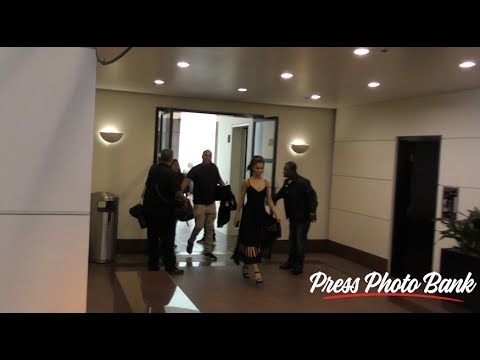 Selena Gomez Leaving Radio Disney in Burbank CA