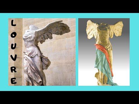 THE LOUVRE, PARIS - magnificent Ancient Greek statues exhibited