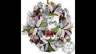 30 inch Ruffle Method for Deco Mesh Wreaths Tutorial by JKatsKreations