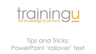 Tips & Tricks: PowerPoint Rollover Text