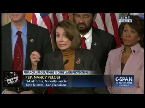 Nancy Pelosi lost it Thinks President Bush is in office now