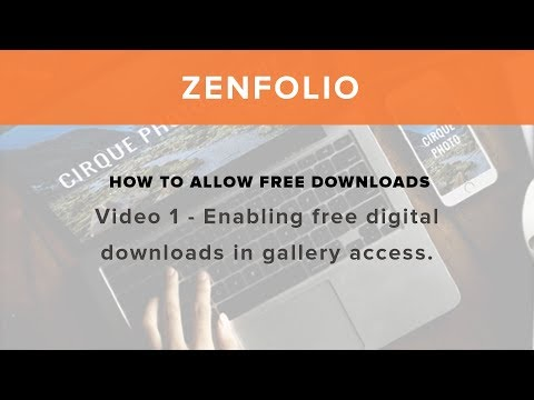 How to allow free downloads - Video 1 Enabling free digital downloads in gallery access