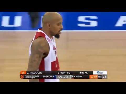 Jordan Theodore 16pts/8ass and the winning shot (Baskonia - Olimpia Milan 82-83)