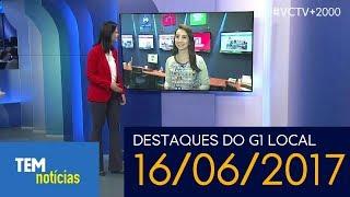 TEM Notícias 1° Edição/TV TEM Sorocaba: Destaques do G1 Local (16/06/2017)