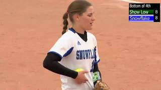 Snowflake vs Show Low High School Softball 3A East Region Full Game