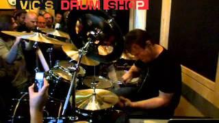 Gavin Harrison at Vic's Drum Shop