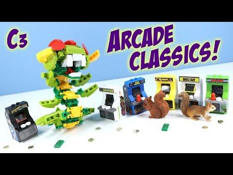 C3 Construction Arcade Classics Buildable Mini Games Centipede Frogger Asteroids Q*bert