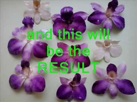 RESIN COATING REAL ORCHIDS. Here's how to 1/2.