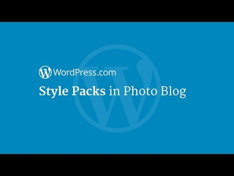 Style Packs in Photo Blog