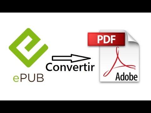 Convertir EPUB en PDF