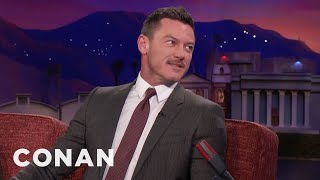 """Luke Evans Pitches """"Conan Without Borders: Wales""""  - CONAN on TBS"""