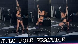 "J.Lo Rocks the Pole During Practice for New Movie ""The Hustlers at Scores"""