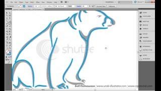 Adobe Illustrator. Урок 9. Инструмент варьирования толщины линии Width tool. (Бориса Поташника)