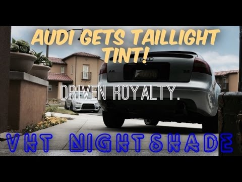 e4ed83e49aa How to tint taillights with VHT Nightshades. (Audi) - YouTube