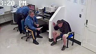 Police Lieutenant Arrested For DUI; .36% BAC [Booking footage; with audio]