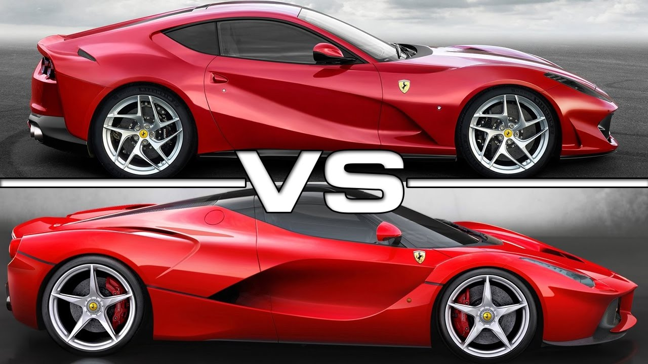 2018 ferrari 812 superfast vs 2015 ferrari laferrari youtube. Black Bedroom Furniture Sets. Home Design Ideas