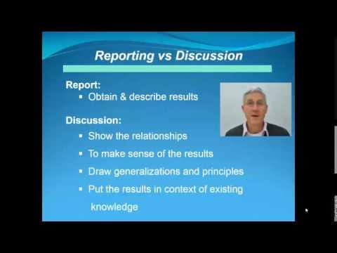 Presentations: IMRaD structure