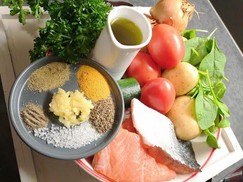 pavé-de-saumon-et-légumes-au-four