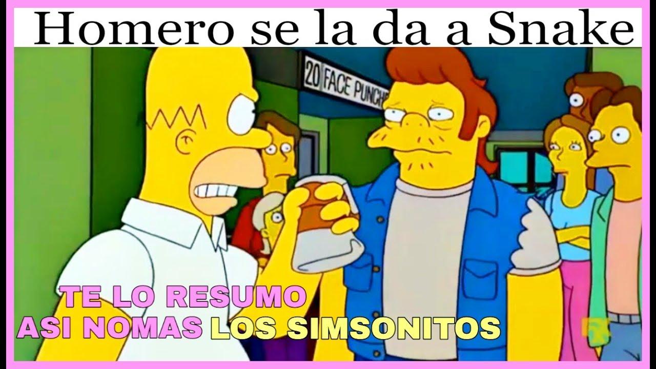 Te Lo Resumo Así Nomas Los Simpson Capítulos Lo Reto A Ver Esto Youtube
