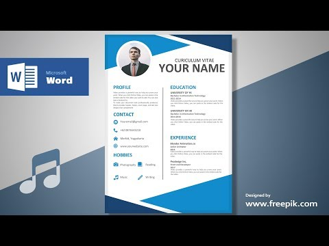 Awesome Clean Resume Designing in Microsoft Word (Musical Version)| CV Designing Tutorial