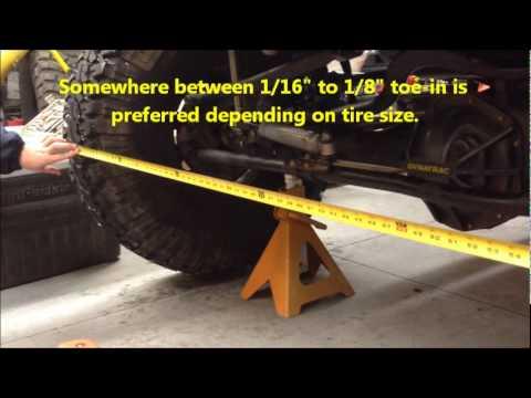 JK toe-in alignment tips