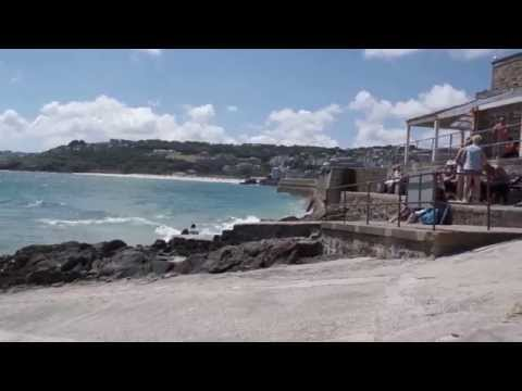 The beautiful city of St. Ives (Cornwall): an overview of the city and its surroundings.