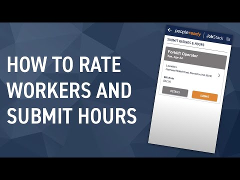 JobStack Tutorial: How to Submit Hours and Ratings