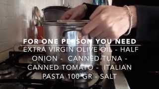 Italian Tuna Pasta - Easy And Quick Recipe With Tomato Sauce