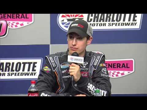 Charlotte news conference with NNS race winner Joey Logano, Adam Stevens and J.D. Gibbs