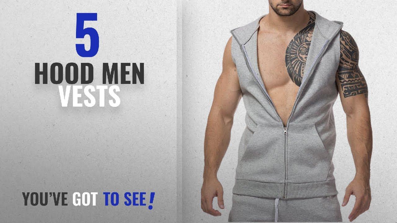 0f68783b13707 Top 10 Hood Men Vests  Winter 2018    Simbama Men s Hooded Tank Tops  Bodybuilding Muscle T Shirt