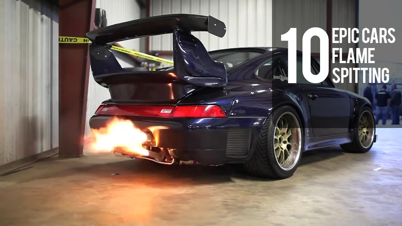 10 Epic Cars Flame Spitting   Crazy Flames!!