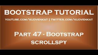 Bootstrap scrollspy