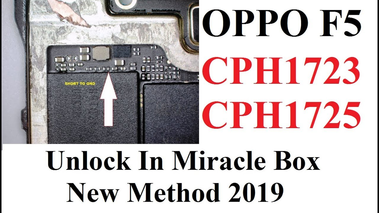 Oppo F5 Unlock in Miracle CPH1723 CPH1725 New Method 2019 Oppo Unlocking