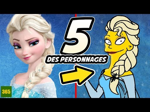 Comment Dessiner 5 Personnages Disney Style Simpsons Youtube