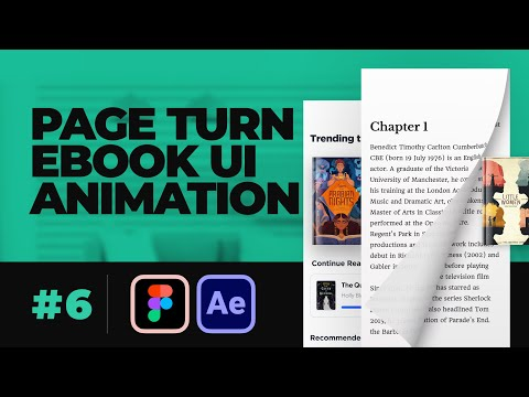 Page turn and flip animation for ebook app UI using After Effects
