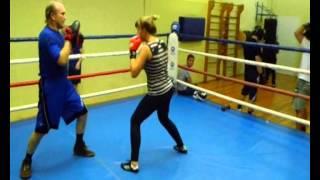 Женский бокс.индивидуальная тренировка на лапах.  56    (  Конкин И.) FIGHTME.RU