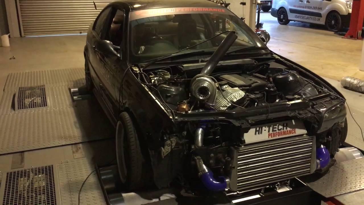Bmw 330ci Turbo On The Dyno Engine Sound 504hp Amp 667nm
