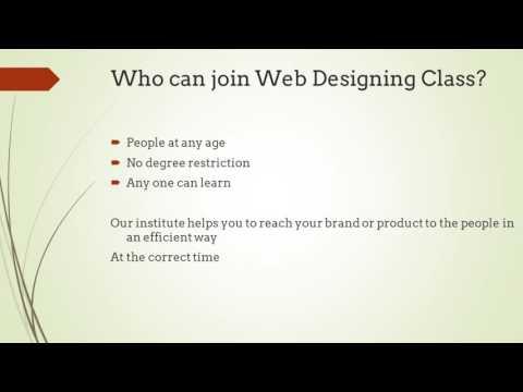 Web Design Training Coimbatore, Tirupur & Erode