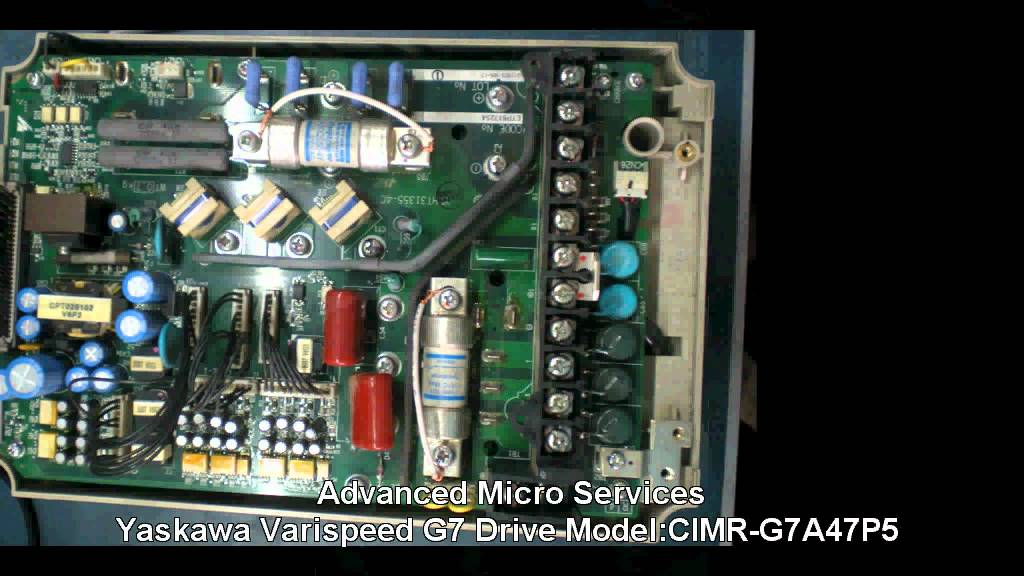 maxresdefault yaskawa varispeed g7 drive repair model cimr g7a47p5 @ @ advanced yaskawa g7 wiring diagram at panicattacktreatment.co