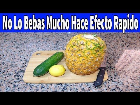 No Lo bebas Diario piña limon y pepino para Reducir la panza en un tiempo rapido