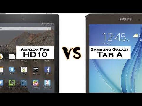 Amazon Kindle Fire HD10 vs Galaxy Tab A - Size Comparison​​​ | H2TechVideos​​​