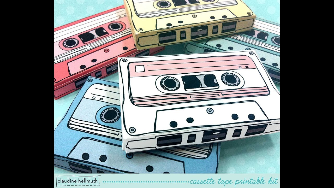 make a retro cassette tape gift card holder & party favor box - YouTube
